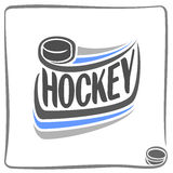 Abstract background on the hockey theme Royalty Free Stock Photos