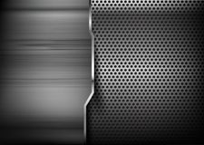 Abstract background hold polished metal 006 Stock Photos