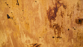 Abstract background with the hole on the right and the texture of the rust orange-brown colored with spots Stock Photo