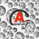 Abstract background holey wall with penetrating. Circle border for your design. Vector Illustration EPS10 Stock Images