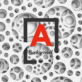Abstract background holey wall with penetrating. Square border for your design. Vector Illustration EPS10 Royalty Free Stock Photos