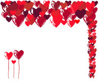 Abstract background for the Holiday on February 14. Hearts and congratulations Happy Valentines Day Royalty Free Stock Photography