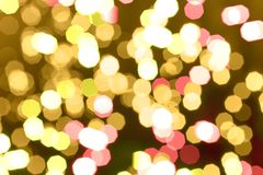 Abstract background of holiday glittering lights Stock Photography