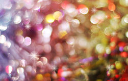 Abstract background of holiday lights Stock Photos