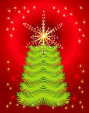 Abstract background with holiday tree. For your design stock illustration
