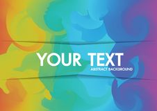 Abstract Background Holographic neon copy-space for text. Royalty Free Stock Photos