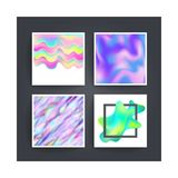 Abstract background holographic vector Stock Photo