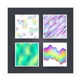 Abstract background holographic vector Royalty Free Stock Photos