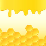 Abstract background with honeycomb. Vector illustration Royalty Free Stock Photo