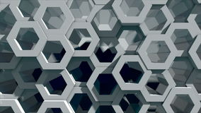 Abstract background with honeycomb wall. 3d rendering Stock Images