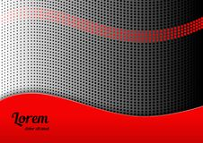Abstract background 17. Horizontal abstract background with dotted halftone pattern in black and red colors. Dot gradient texture. Design template of flyer Royalty Free Stock Photography