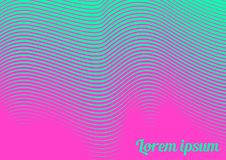 Abstract background 22. Horizontal abstract background with striped halftone pattern in fluorescent colors. A wavy texture of gradient line ornament. Design royalty free illustration