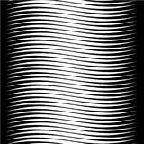 Abstract background with horizontal wave lines. Abstract black and white contrast background with smooth horizontal wave lines. Hairs theme stock illustration