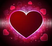 Abstract background with hot hearts Royalty Free Stock Photos