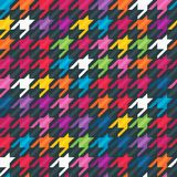 Abstract background with houndstooth print. Stock Image