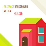 Abstract background with a house in a flat style. Vector illustration Stock Photography