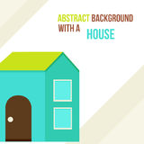 Abstract background with a house in a flat style. Vector illustration Stock Images