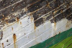 Hull of a ship. Abstract background of the hull of the ship Stock Image