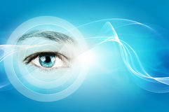 Abstract background with human eye Stock Photography