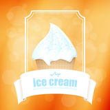 Abstract background with ice cream. Vector. Abstract background with ice cream with topping in a frame. Vector royalty free illustration