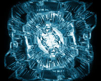 Abstract background. Abstract ice flower on black background Stock Photos