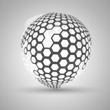 Icon honeycomb  Abstract background hexagon. Abstract background Icon honeycomb hexagon and honey Stock Images