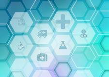 Abstract background with icons on the medical. Theme Royalty Free Stock Photo