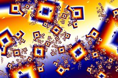 Abstract Background Illustration. With Squares Royalty Free Stock Photography