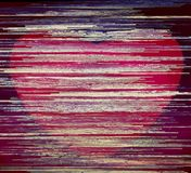 Red heart on an abstract background. Abstract background. Illustration. Art picture. Saturated color Stock Photography