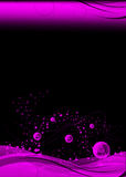 Abstract background. Illustration of an abstract background in black and pink Royalty Free Illustration