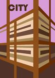 Abstract background. Illustration of the building in perspective view. Vector EPS10 Stock Illustration