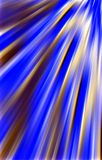 Blue  background. Strips of fabric diverge from the upper corner downwards. Abstract background. Illustration & Clipart. Blue and gold colors on a unique Royalty Free Stock Photo