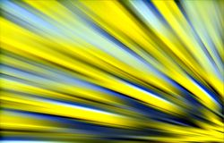 Yellow background. Colored folds, strips diverge from the bottom to top. Abstract background. Illustration & Clipart. Unique design. Yellow and blue colors on a Royalty Free Stock Image