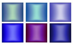 Set blurred backgrounds for your design. Different shades of blue. Abstract background, illustration and decoration. Texture painted paper. Blue and violet royalty free illustration