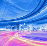 Abstract background illustration of fast traffic motion Stock Photo