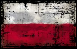 Flag of poland. Abstract background illustration - flag of poland Royalty Free Stock Images