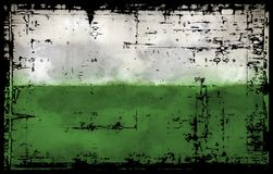 Flag of saxony Royalty Free Stock Images