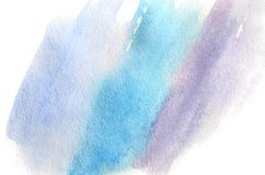 Abstract background illustration in the form of three watercolor strokes performed in cold blue and violet tones.  vector illustration
