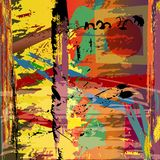 Abstract background illustration. With paint strokes, splashes and square stock illustration