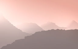 Abstract Background. Illustration pink haze over mountains Stock Image