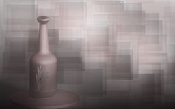 Abstract Background. Illustration of squares in pale pastel colours and vase Stock Image
