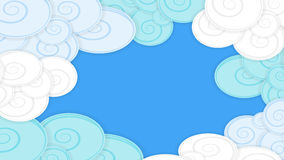 Abstract background image with clouds, material design. Abstract background illustration with clouds, material design Stock Photo