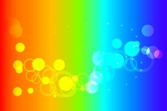 Abstract background. Abstract image of colorful circular contours on a rainbow background Royalty Free Illustration