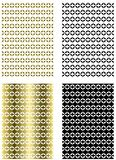 set of Abstract backgrounds isolated Royalty Free Stock Images