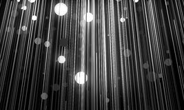 Abstract background is imitating hanging lamps on wires.3D illus Stock Photography