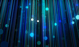 Abstract background is imitating hanging lamps on wires.3D illus Stock Images