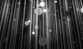 Abstract background is imitating hanging lamps on wires.3D illus Stock Photo
