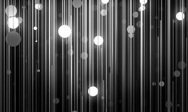Abstract background is imitating hanging lamps on wires.3D illus Royalty Free Stock Photo