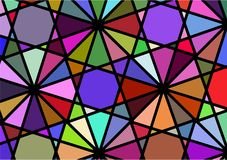 Abstract background imitating a multicolored windmill. Vector Royalty Free Stock Photography
