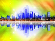 Abstract background with industrial city house Stock Photography